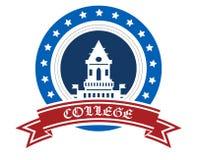 Emblema de la universidad Imagen de archivo libre de regalías