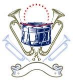 Emblema de la venda de jazz de la música Foto de archivo libre de regalías
