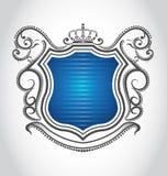 Emblema de la vendimia con la corona Imágenes de archivo libres de regalías