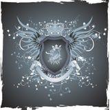 Emblema de la vendimia de Grunge con la pista del grifo Foto de archivo