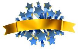 Emblema de las estrellas Foto de archivo libre de regalías