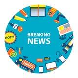 Emblema de las noticias de última hora Imagen de archivo libre de regalías