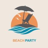 Emblema de las vacaciones de verano Fotografía de archivo libre de regalías