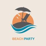 Emblema de las vacaciones de verano Imágenes de archivo libres de regalías