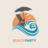 Emblema de las vacaciones de verano Imagenes de archivo