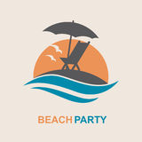 Emblema de las vacaciones de verano Fotos de archivo libres de regalías