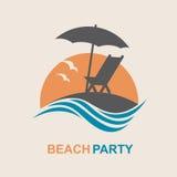 Emblema de las vacaciones de verano Fotografía de archivo
