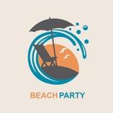 Emblema de las vacaciones de verano Fotos de archivo