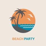 Emblema de las vacaciones de verano Imagen de archivo libre de regalías