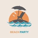 Emblema de las vacaciones de verano Foto de archivo libre de regalías