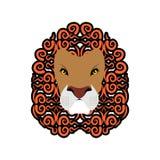 Emblema de Lion Abstract Ornamento de la melena Tatuaje de Leo Animal salvaje Foto de archivo