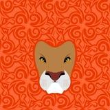 Emblema de Lion Abstract Ornamento de Mane Oriental Animal salvaje Fotos de archivo libres de regalías