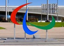 Emblema de los juegos de Paralympic Imágenes de archivo libres de regalías
