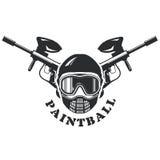 Emblema de Paintball - máscara y marcadores ilustración del vector