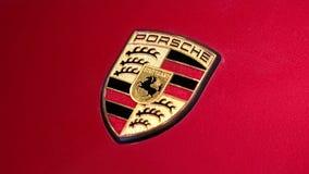 Emblema de Porsche almacen de video