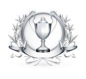 Emblema de prata Imagens de Stock