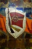 Emblema de Stasi en la pared en Stasi Museum Imagen de archivo