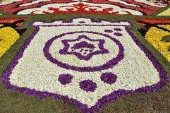 Emblema de Telavive no tapete da flor Fotos de Stock