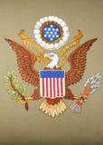 Emblema degli Stati Uniti d'America fotografia stock libera da diritti