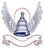 Emblema del ala de la alarma de Xmass Fotografía de archivo