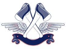 Emblema del ala del hacha Foto de archivo