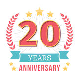 Emblema del aniversario Imágenes de archivo libres de regalías