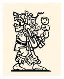 Emblema del Azteca y del inca Foto de archivo
