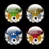 Emblema del balompié del vector Fotografía de archivo libre de regalías