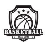 Emblema del baloncesto Imagen de archivo libre de regalías