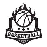 Emblema del baloncesto Foto de archivo libre de regalías