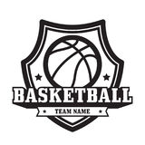 Emblema del baloncesto Imagen de archivo