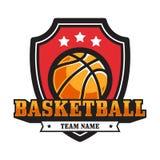 Emblema del baloncesto fotos de archivo
