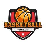 Emblema del baloncesto imagenes de archivo