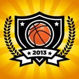 Emblema del baloncesto del vector Fotografía de archivo