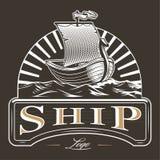 Emblema del barco del vintage Fotografía de archivo libre de regalías