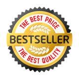 Emblema del bestseller. Vector. Imágenes de archivo libres de regalías