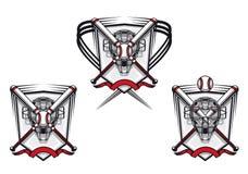 Emblema del béisbol Fotografía de archivo