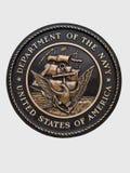 Emblema del blu marino di Stati Uniti Fotografia Stock