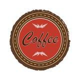 Emblema del caffè Illustrazione ENV 10 di vettore isolata immagini stock libere da diritti