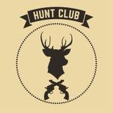 Emblema del club de caza del vector libre illustration