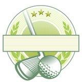 Emblema del club de golf Fotografía de archivo libre de regalías