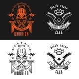 Emblema del club de la lucha callejera stock de ilustración