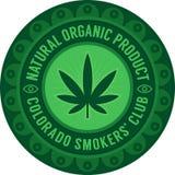 Emblema del club dei fumatori di Colorado fotografia stock