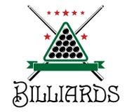 Emblema del club del biliardo Immagini Stock Libere da Diritti