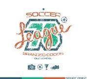 Emblema del club del fútbol Foto de archivo libre de regalías