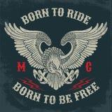 Emblema del club del motociclo Immagini Stock