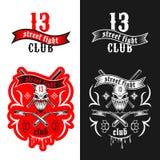 Emblema del club di rissa per strada Fotografie Stock Libere da Diritti