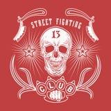 Emblema del club di rissa per strada Fotografia Stock Libera da Diritti