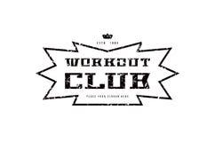 Emblema del club del entrenamiento Imagenes de archivo