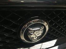 Emblema del coche de Jaguar imagen de archivo libre de regalías